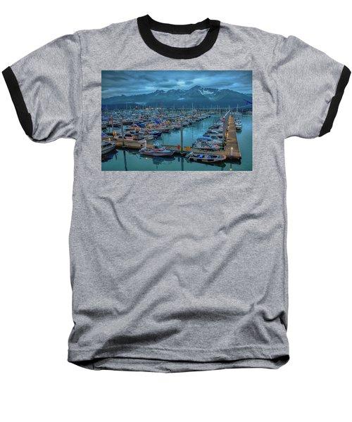 Nightfall On The Harbor Baseball T-Shirt