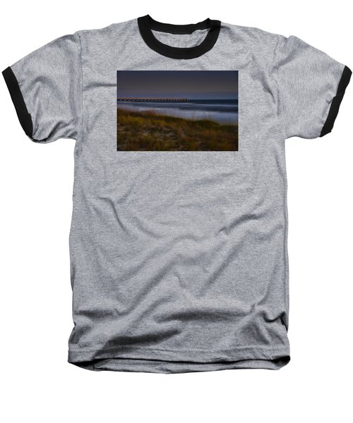 Nightlife By The Sea Baseball T-Shirt by Renee Hardison