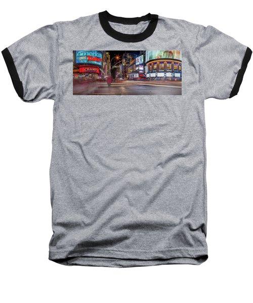 Baseball T-Shirt featuring the photograph Nights On Broadway by Az Jackson