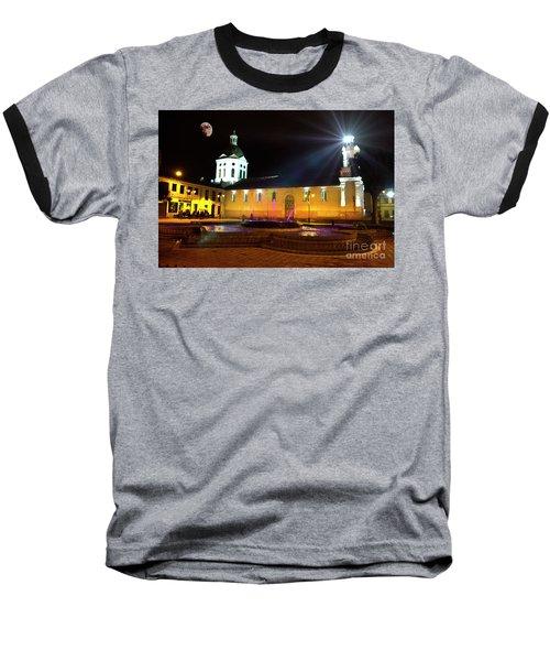 Nighttime At San Sebastian Baseball T-Shirt by Al Bourassa