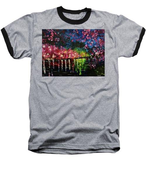 Nighttime Pink Baseball T-Shirt