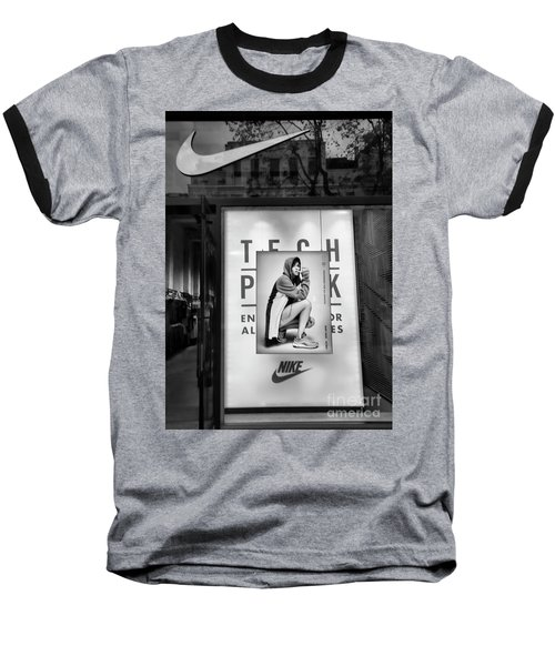 Nike Display Street Photo Black Retail Store  Baseball T-Shirt