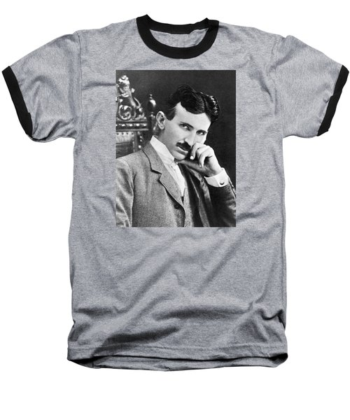 Nikola Tesla Baseball T-Shirt