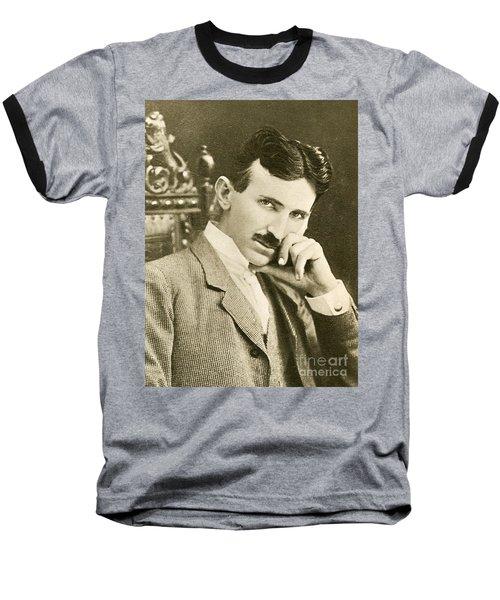Nikola Tesla, Serbian-american Inventor Baseball T-Shirt