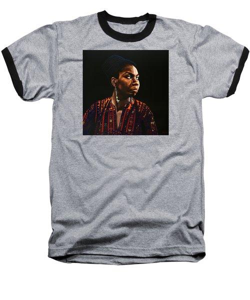 Nina Simone Painting Baseball T-Shirt
