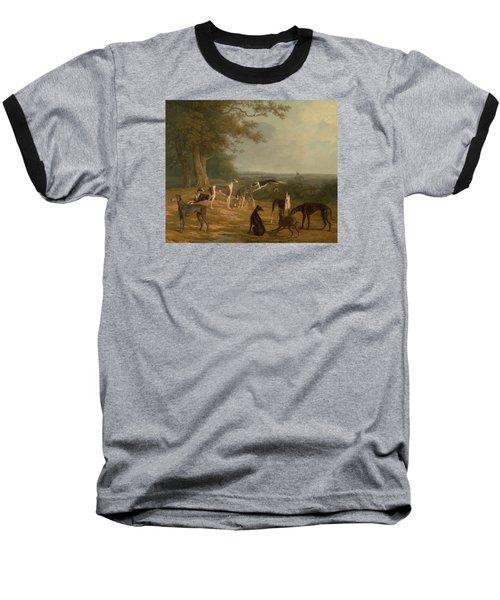 Nine Greyhounds In A Landscape Baseball T-Shirt