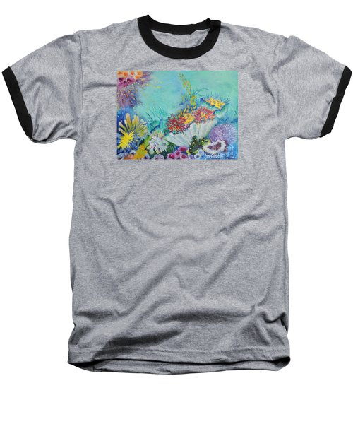 Ningaloo Reef Baseball T-Shirt by Lyn Olsen