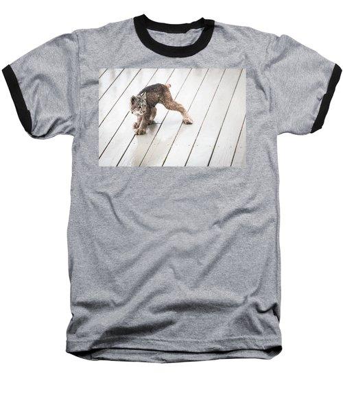 Ninja Lynx Kitty Baseball T-Shirt