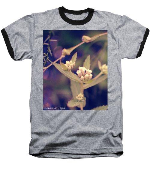 Nip It In The Bud Baseball T-Shirt by Stefanie Silva