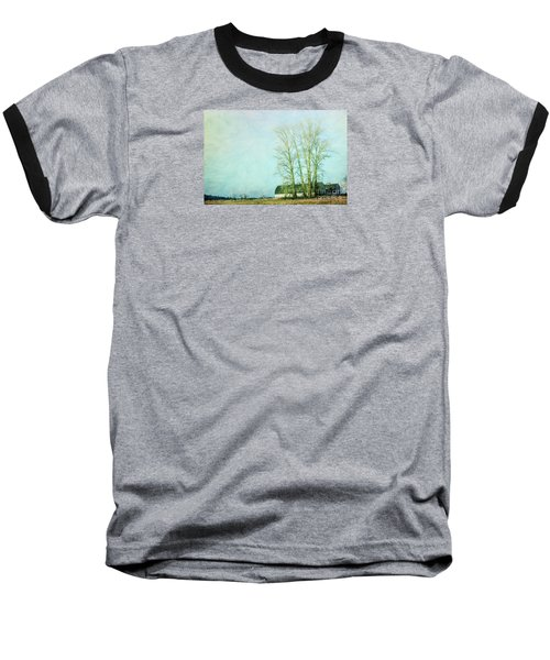 Baseball T-Shirt featuring the photograph Nisqually Barns by Jean OKeeffe Macro Abundance Art