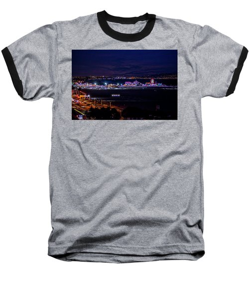 Nite Life On The Pier Baseball T-Shirt
