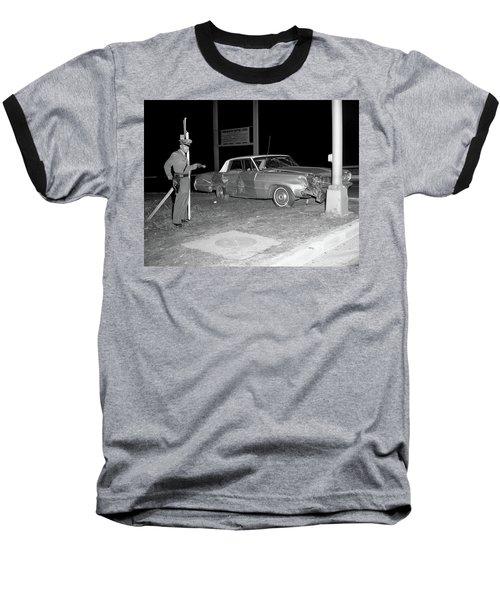 Nj Police Officer Baseball T-Shirt by Paul Seymour