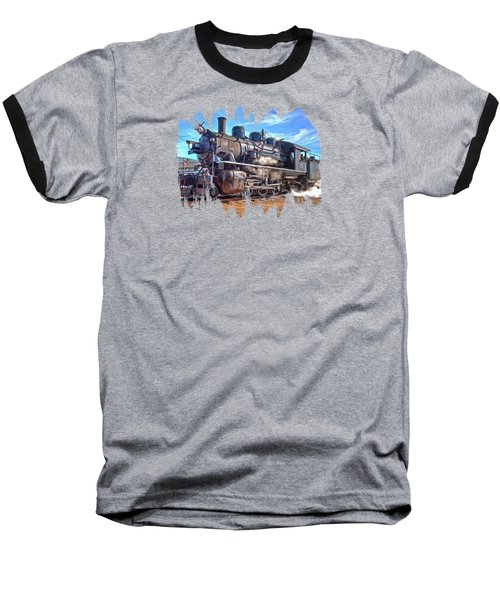 No. 25 Steam Locomotive Baseball T-Shirt by Thom Zehrfeld