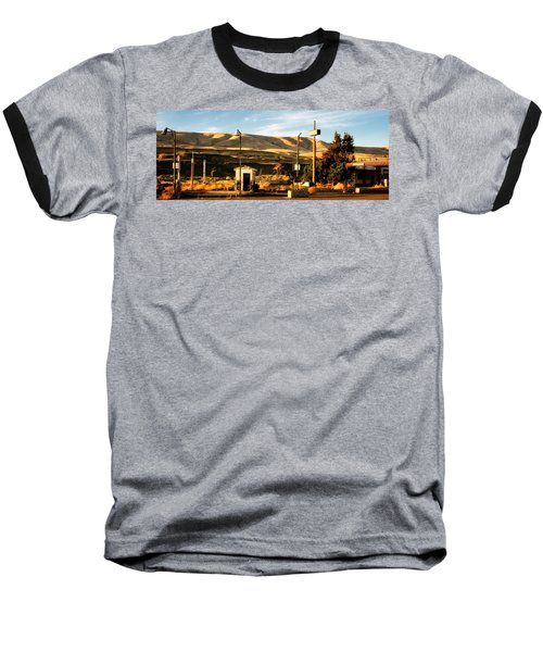 Baseball T-Shirt featuring the photograph No Gas... by Albert Seger