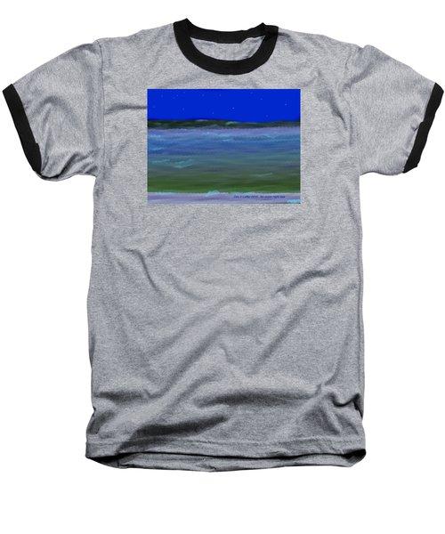 No Moon Night Sea Baseball T-Shirt by Dr Loifer Vladimir