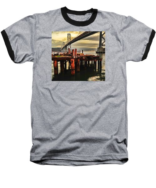 Baseball T-Shirt featuring the photograph No Name Dock by Steve Siri