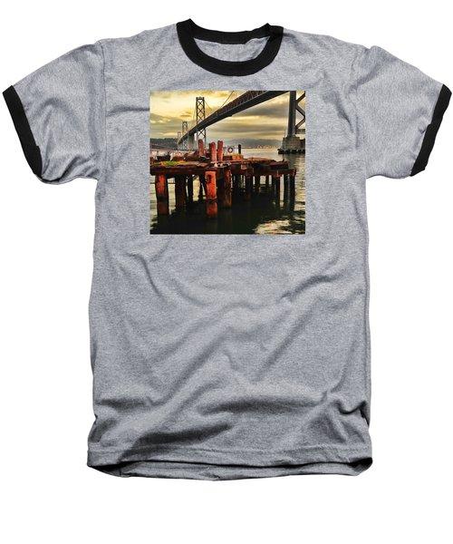 Baseball T-Shirt featuring the photograph No Name Dock by Steve Siri