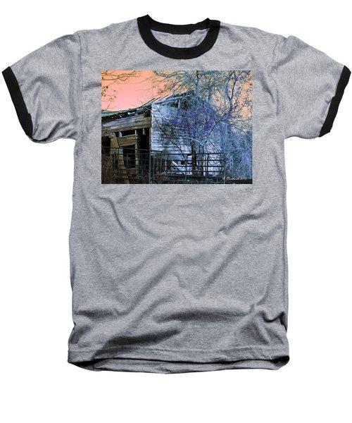 Baseball T-Shirt featuring the photograph No Ordinary Barn by Betty Northcutt