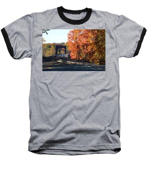 No Train Coming Baseball T-Shirt