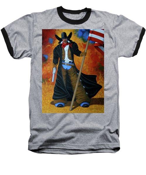 No Trespassing Baseball T-Shirt by Lance Headlee