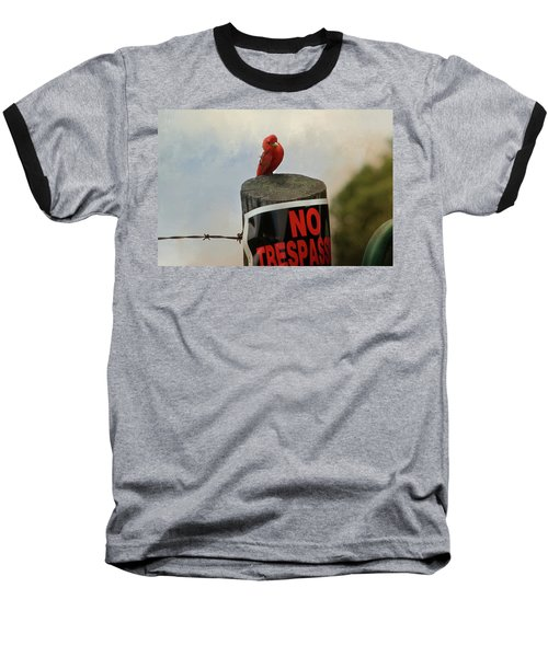 No Trespassing Baseball T-Shirt