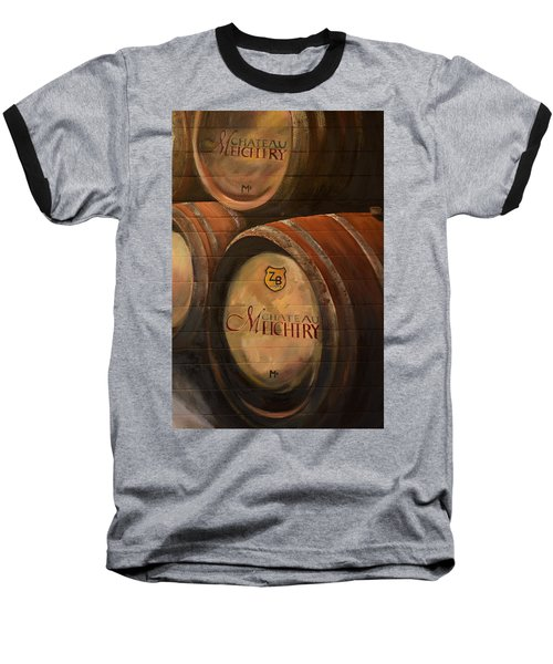 No Wine Before It's Time - Barrels-chateau Meichtry Baseball T-Shirt