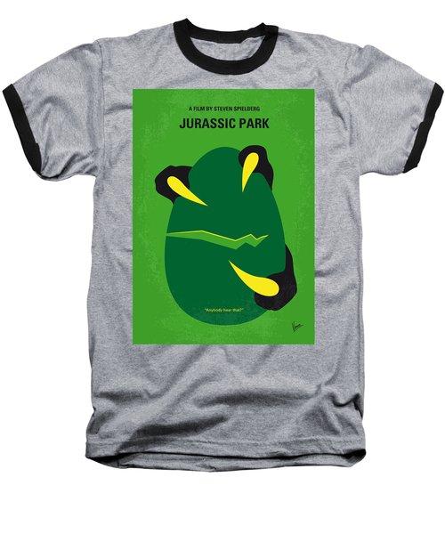 No047 My Jurassic Park Minimal Movie Poster Baseball T-Shirt