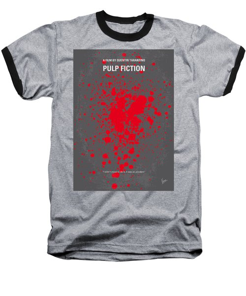 No067 My Pulp Fiction Minimal Movie Poster Baseball T-Shirt