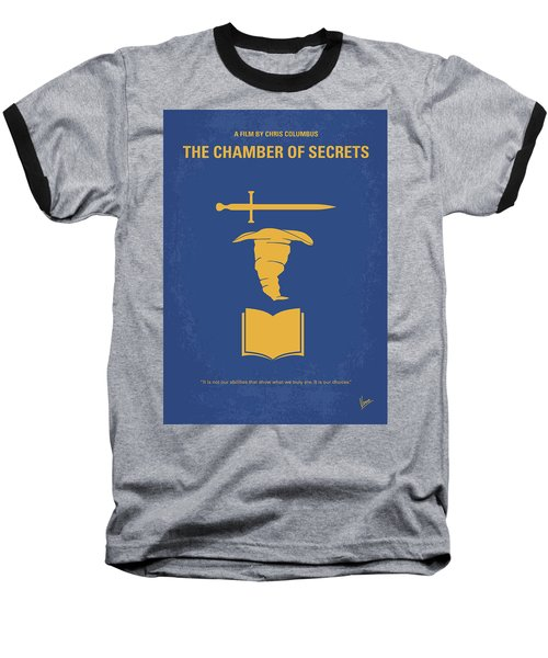 No101-2 My Hp - Chamber Of Secrets Minimal Movie Poster Baseball T-Shirt