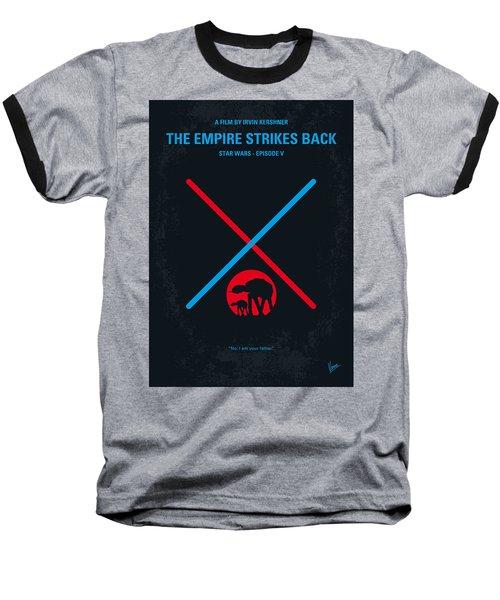 No155 My Star Wars Episode V The Empire Strikes Back Minimal Movie Poster Baseball T-Shirt