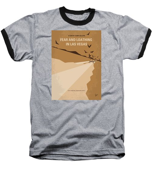 No293 My Fear And Loathing Las Vegas Minimal Movie Poster Baseball T-Shirt by Chungkong Art