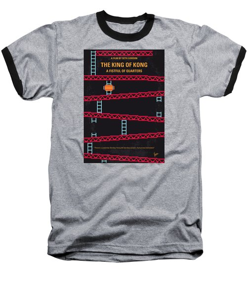 No581 My King Of Kong Minimal Movie Poster Baseball T-Shirt