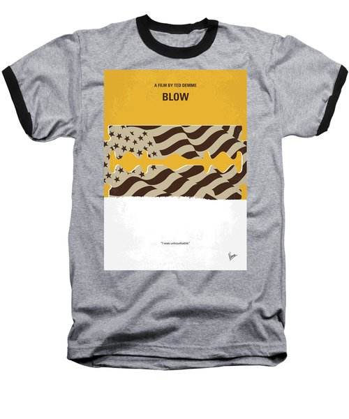 No693 My Blow Minimal Movie Poster Baseball T-Shirt