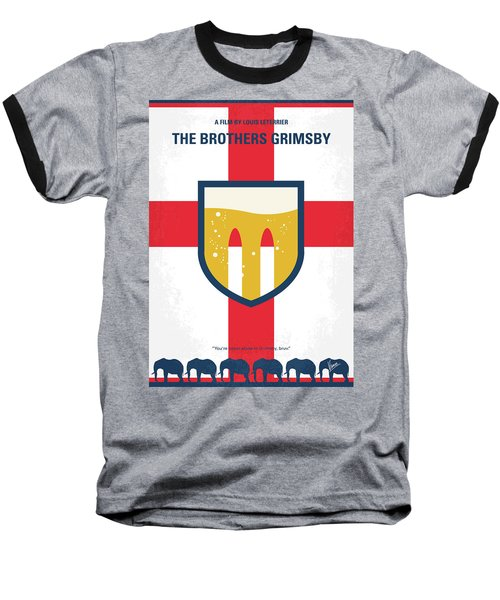 Baseball T-Shirt featuring the digital art No741 My Grimsby Minimal Movie Poster by Chungkong Art