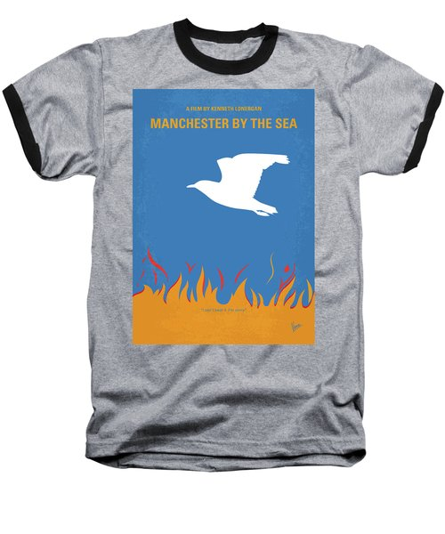 Baseball T-Shirt featuring the digital art No753 My Manchester By The Sea Minimal Movie Poster by Chungkong Art