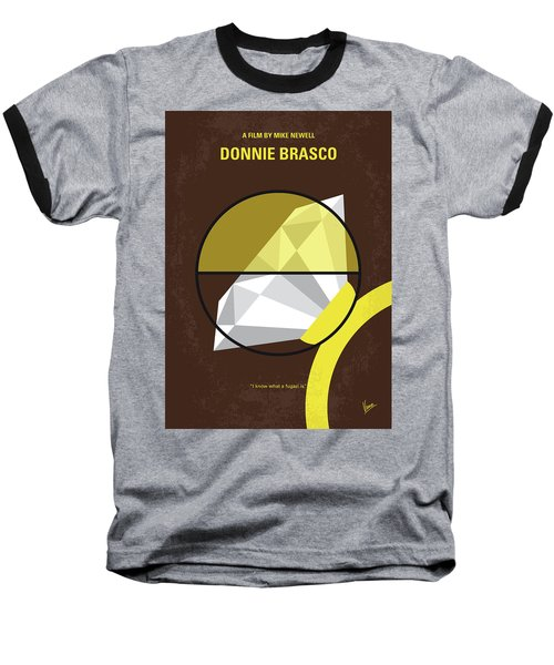 No766 My Donnie Brasco Minimal Movie Poster Baseball T-Shirt