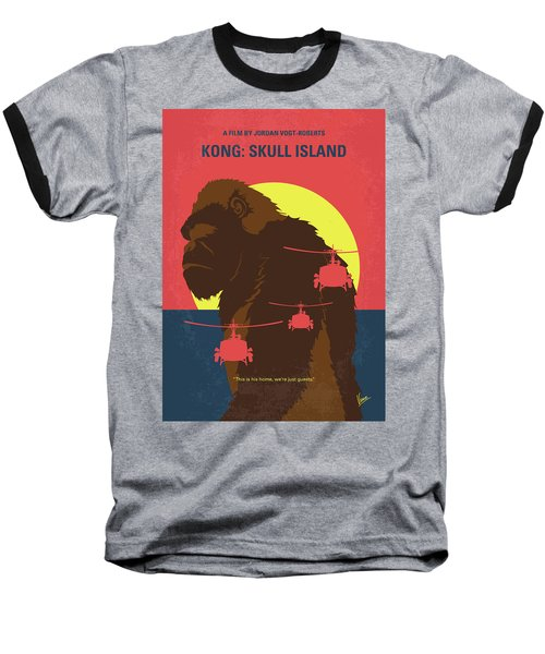 No799 My Skull Island Minimal Movie Poster Baseball T-Shirt