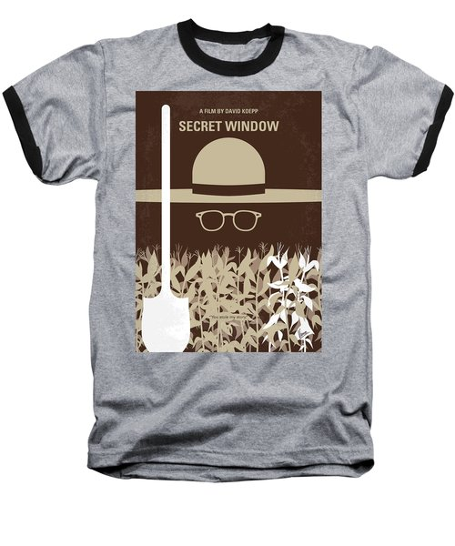 No830 My Secret Window Minimal Movie Poster Baseball T-Shirt