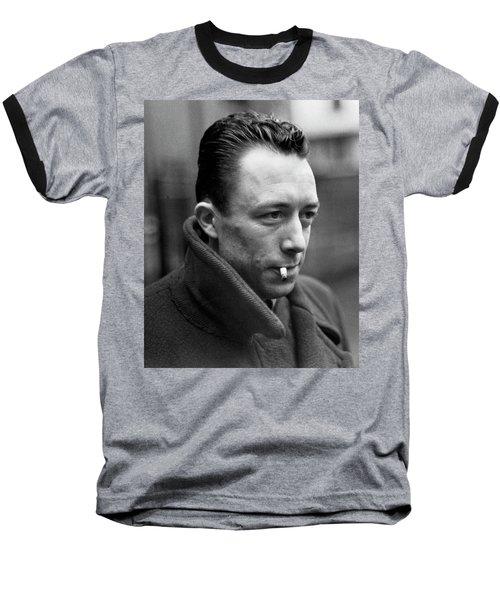 Nobel Prize Winning Writer Albert Camus Unknown Date #1 -2015 Baseball T-Shirt by David Lee Guss