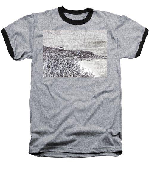 Nobska Lighthouse Baseball T-Shirt
