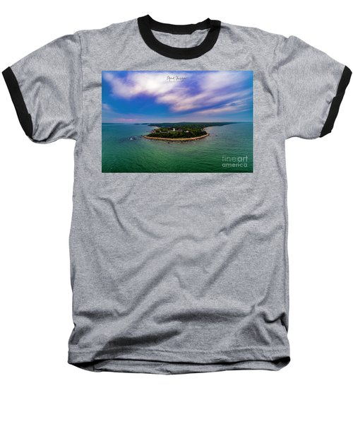 Nobska Lighthouse Panorama Baseball T-Shirt
