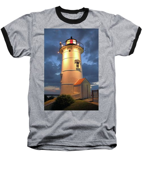 Baseball T-Shirt featuring the photograph Nobska Point Lighthouse by Roupen  Baker