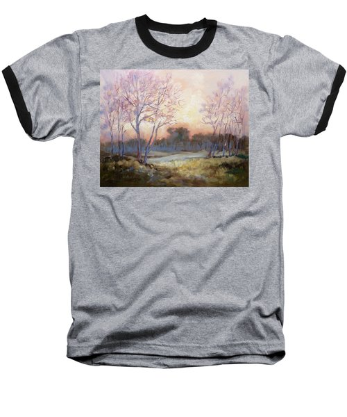 Nocturnal Landscape Baseball T-Shirt by Irek Szelag