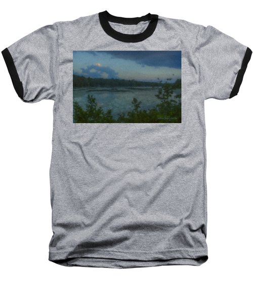 Nocturne At Ames Long Pond Baseball T-Shirt