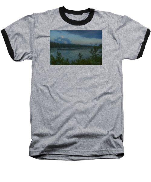 Nocturne At Ames Long Pond Baseball T-Shirt