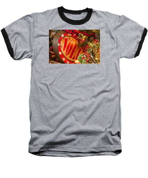 Baseball T-Shirt featuring the photograph Noel Sign by Vinnie Oakes