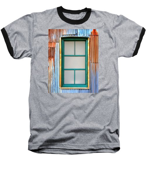 Nonwindow Surrounded By Color Baseball T-Shirt by Gary Slawsky