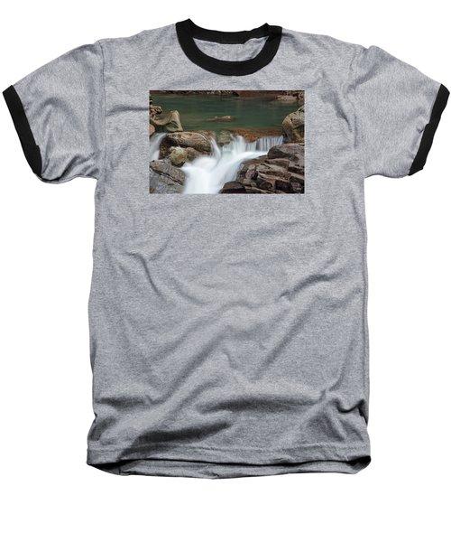 Nooksack Falls Baseball T-Shirt by Sabine Edrissi