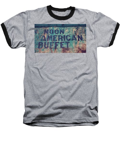 Baseball T-Shirt featuring the photograph Noon American Buffet by Toni Hopper
