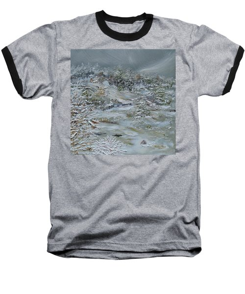 Baseball T-Shirt featuring the painting Nor'easter by Judith Rhue